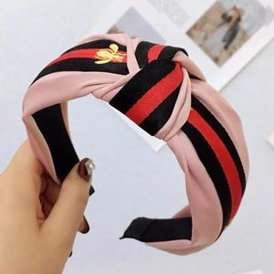 striped colorful headband with knot 5 colors
